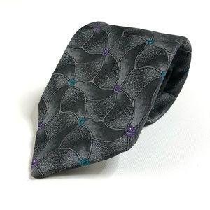 Yves saint Laurent Mens 100% silk necktie Gray